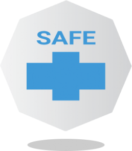 Safe on skin icon