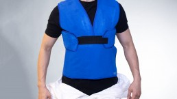 CarbonCool ComfortSuit with Unzipped PPE against a White Background